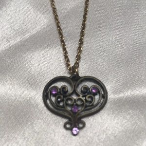 Jewelry - Vintage Bronze Heart Necklace